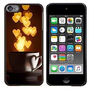 Planetar® ( Amo corazones de la Copa Oro Luces ) Apple iPod Touch 6 6th Touch6 Fundas Cover Cubre Hard Case Cover