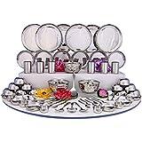 Shri & Sam Stainless Steel Dinner Set, 70 Pieces, Steel