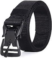 Hreamky The Tactical Belt,Outdoor Work Men's Belt,The Magnet Metal Buckle The Tactical