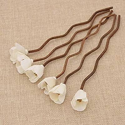 5Pcs Flower Brown Wavy Rattan Reeds Diffuser Replacement Refill Sticks for Home Fragrance Aroma Oil