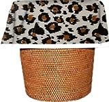 Designerliners Wholesale 50-Pack Black Leopard Biodegradable Home Decor Waste Basket Trash Bags - 7 Gallon Size - 24'' H X 21'' W