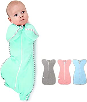 Pink NARUTOO Baby Swaddle Sack Multi-Color Newborn Boy or Girl Adjustable Sleep Sack Breathable Soft Premium Cotton Suit for Kids Aged 0-3 Months