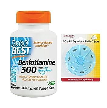 Mejor Benfotiamine 300 Mg cápsulas vegetarianas del doctor, línea 60 Count con gratis 7 días
