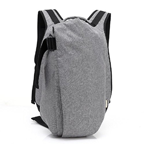 Z&N Oxford tela creativa casual mochila mochila de computadora impermeable viajes al aire libre gimnasio bolsa equipo de camping hombres y mujeresblack A12L gray