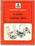 AC-O-576533 Allis-Chalmers 70 Series Planter Units Owners Manual