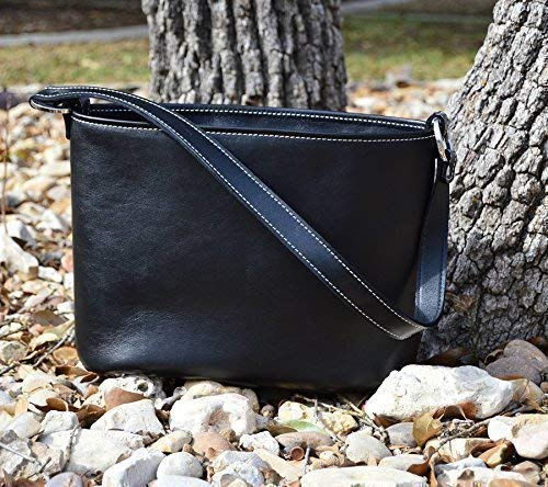 MoonStruck Leather Concealed Carry Purses - CCW Handbags Black Top Grain Leather - Made in the USA - Classic