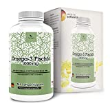 forte omega carbon - Omega-3 Fishoil 365 Capsules • with Vitamin E Highly dosed (1000 mg per Capsule) • EPA DHA Softgels • Made in Germany