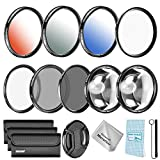 Neewer 67MM Lens Filter and Accessory Kit For Nikon D7000 D5100 D90 D60 D70 D40 DSLRs, Includes: UV CPL ND4 Filter Macro Close-up (+4 +10) Filter Graduated Color Filter 6 Points Star Filter
