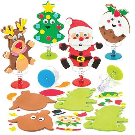 d4062e50d Baker Ross Kits de figuritas navideñas saltarinas (Paquete de 6) Manualidades  Infantiles para Jugar y Bolsas de cotillón: Amazon.es: Juguetes y juegos
