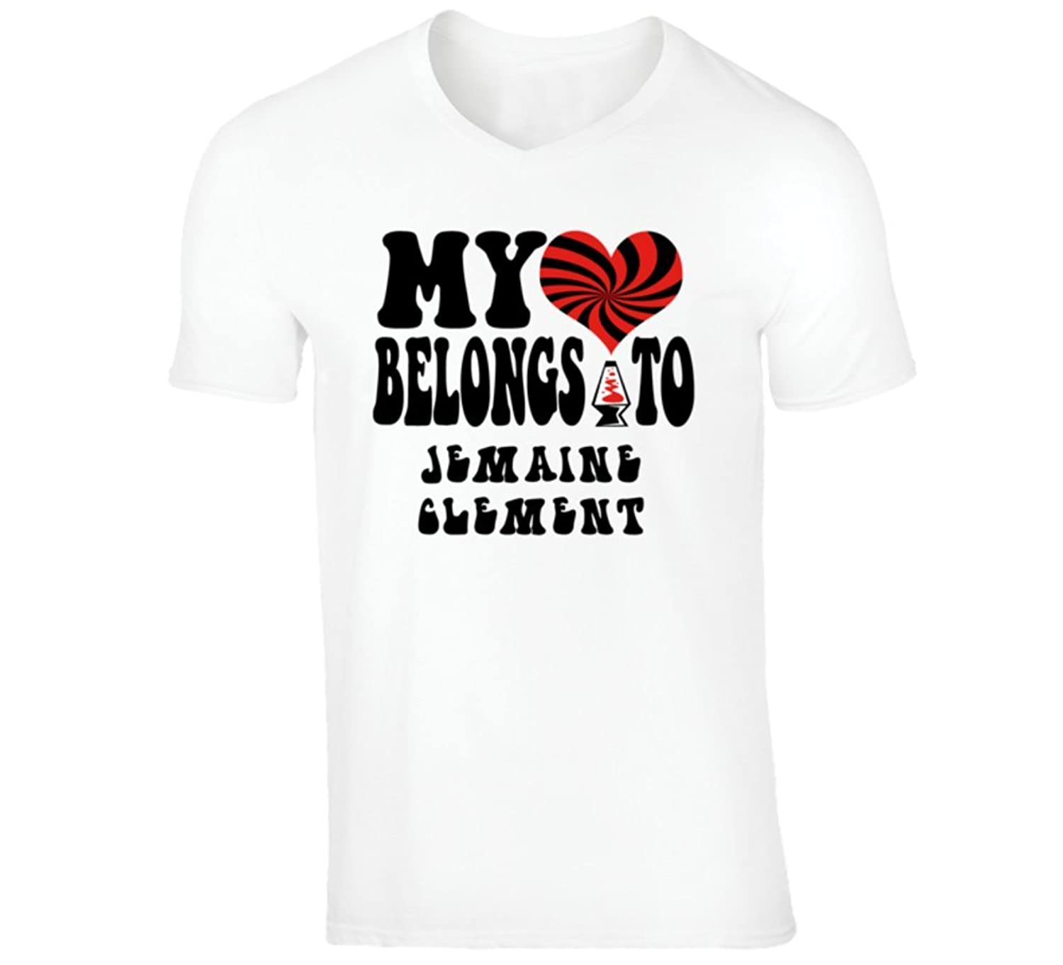 Jemaine Clement Funny Comedian Comedy My Heart Belongs To V-Neck T shirt