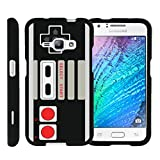 MINITURTLE Case Compatible w/ [Samsung Galaxy J1 J120 Case (2016), Amp 2 Case, Express 3 Case][Snap Shell] Hard Plastic Slim Fitted Snap on case w/ Unique Designs Game Controller For Sale