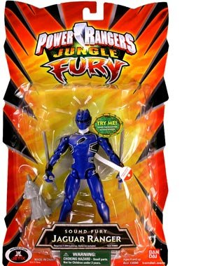 Power Rangers Jungle Sound Fury Jaguar Ranger -Blue