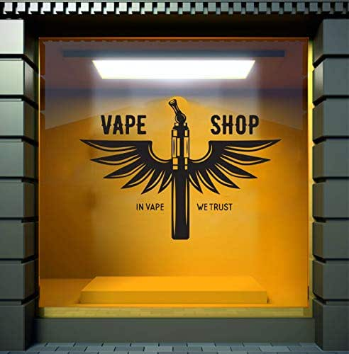 Jewelry Shoplogo: Amazon.com: Vape Shop Wall Decal Vape Wall Stiker Vaper