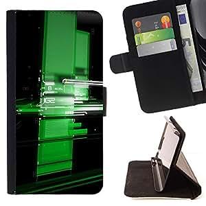 Momo Phone Case / Flip Funda de Cuero Case Cover - Verde Digital - LG OPTIMUS L90
