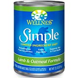 Wellness Simple Limited Ingredient Diet Lamb & Potato Natural Wet Canned Dog Food, 12.5-Ounce Can (Pack of 12)