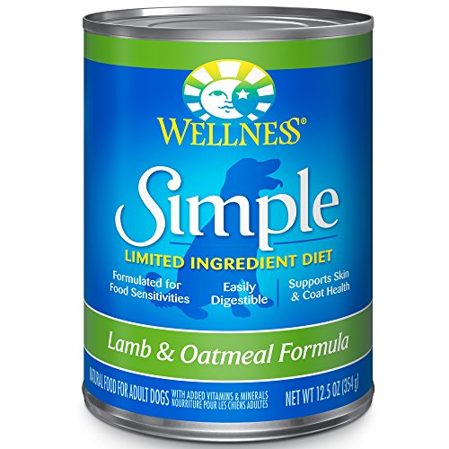Food Allergies Rice (Wellness Simple Natural Wet Canned Limited Ingredient Dog Food, Lamb & Oatmeal, 12.5-Ounce Can (Pack of 12))