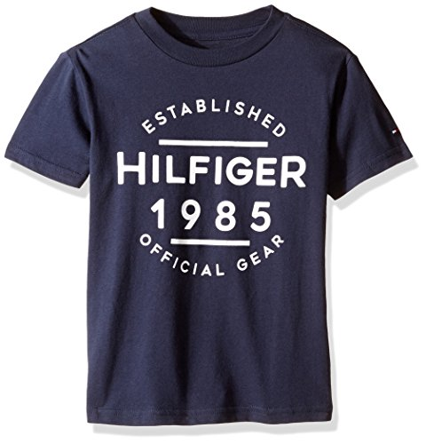 Tommy Hilfiger Denim Men's Little Boys' Tommy Hilfiger Graphic Short Sleeve Tee X 7, Swim Navy, - Kids Sale Tommy