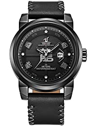 Mens Casual Dragon Chinese Characters Calendar Quartz Wristwatch. Weide