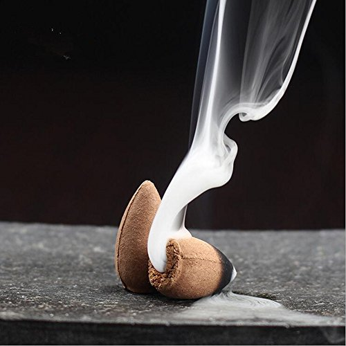 Startdy Backflow Natural Smoke Pagoda Indoor Sandalwood Incense Cone Bullet Aromatherapy for yoga meditation 45pc/box DTX