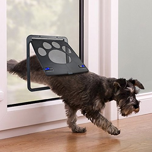 Petleso Doggy Door Dog Screen Door Lockable Door for Small Dogs Cats - Small (Inside - 8.25