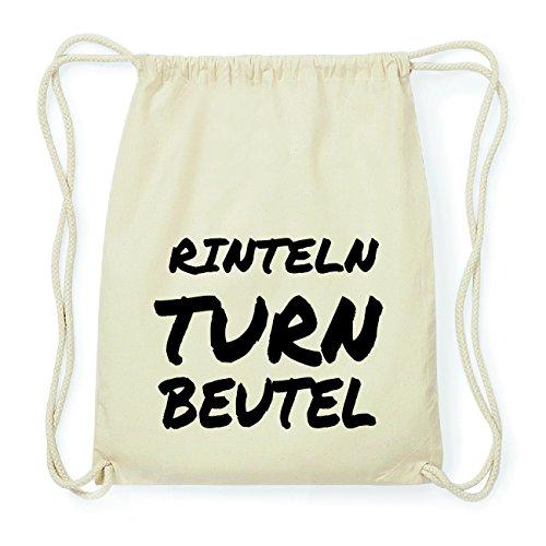 JOllify RINTELN Hipster Turnbeutel Tasche Rucksack aus Baumwolle - Farbe: natur Design: Turnbeutel