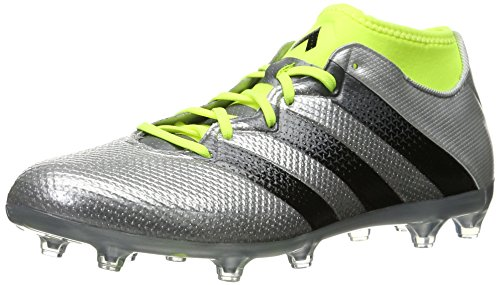 adidas Originals Men's Ace 16.2 Primemesh Fg/Ag Soccer Shoe, Silver Metallic/Black/Electricity, 10.5 M US