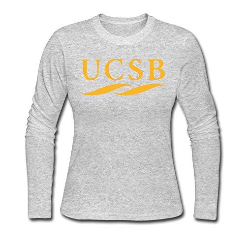 WYY Women's University Of California Santa Barbara UCSB Logo Long Sleeve T Shirt Small Gray]()