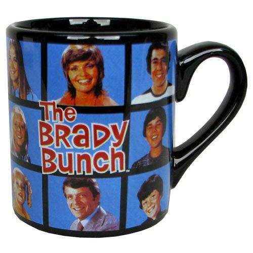 (Brady Bunch Cast Portrait Black Mug)