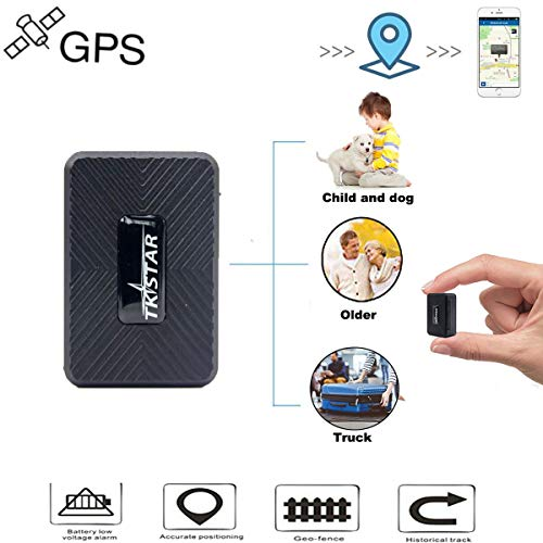 Mini GPS Tracker, Hangang Portable Personal GPS Tracker Real Time Vehicle  GPS Tracker with Magnets Long Life Battery Waterproof Vehicle Tracking