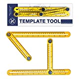 Professional Multi-Angle Template Tool | Made from NON-Toxic Material | Angle Measuring Ruler for Tilers, Builders, Roofers, Floorers, Carpenters, Renovators, DIYers