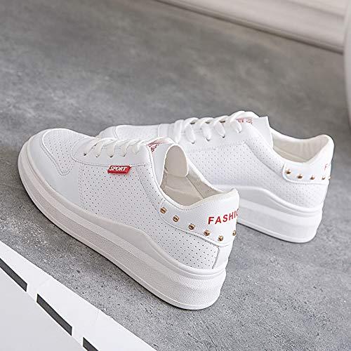 Zapatillas Thirty nine Zapatos Blancos Microfibra nbsp;Vet Tamaño Ri Zapatos Estudiante Zapatos Chica WFCAYDHN Aire Casual 1pFvqwO
