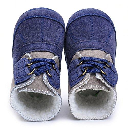 Bebé Niños De Peluche botas Marino