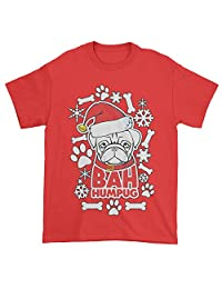 Expression Tees Bah HumPug Ugly Christmas Holiday Mens T-shirt