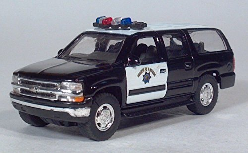 - Welly 2001 Chevy Suburban Highway Patrol Police / Pull Back Toy Car