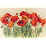 Magic Slice Non-Slip Flexible Cutting Board, Party Size 7-1/2-Inch by 11-Inch, Vibrant Poppies by Carol Rowan