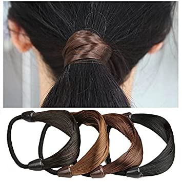 Amazon.com   Garrelett Synthetic Hairbands Elastic Stretch Hairpiece  Braided Headband Ponytail Holders for Girls Women Ladies (2Pcs Random  Color)   Beauty 4ff0ff516d4