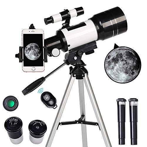 New ToyerBee Telescope for Kids& Beginners, 70mm Aperture 300mm Astronomical Refractor Telescope, Tr...
