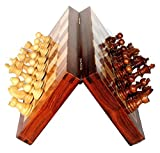 Best Chess Set Sale - BKRAFT4U 10 x 10'' Rosewood Travel Chess Game Board - Premium Handmade Wooden Foldable Magnetic Chess Game Board with Storage Slots, 10 inch. Gifts from India.