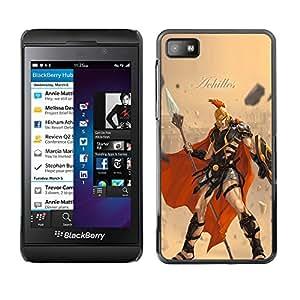 Caucho caso de Shell duro de la cubierta de accesorios de protección BY RAYDREAMMM - Blackberry Z10 - Aquiles