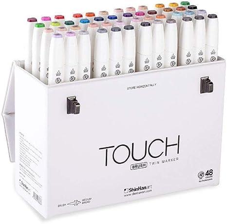 Amazon Com Shinhan Art Touch Twin Brush Marker Set B Medium Broad Nib Brushes 48 Colors 1214800