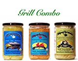 Grill combo-pack: raw fermented sauerkraut, organic, probiotic, kosher and unpasteurized No shipping charges with this combo pack.