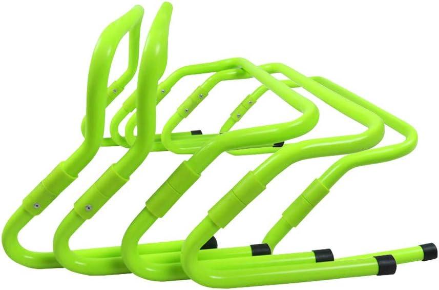 Amzeca Plyometric Hurdles /& Agility Hurdles Football Speed Training Hurdle Set of 5 12 Fitness Adjustable Barrier 6
