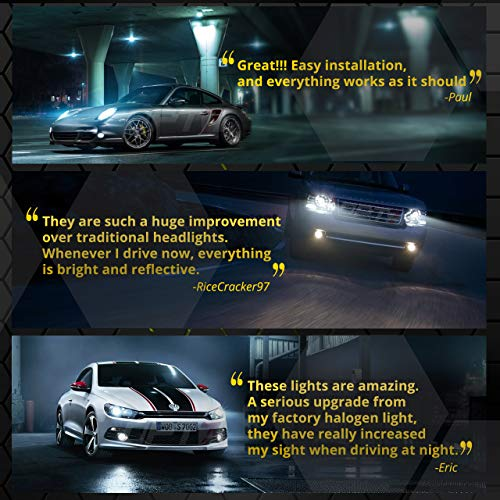 2 Yr Warranty 5X Brighter OPT7 Blitz 55W H7 HID Kit All Bulb Colors and Sizes 4X Longer Life 8000K Ice Blue Xenon Light