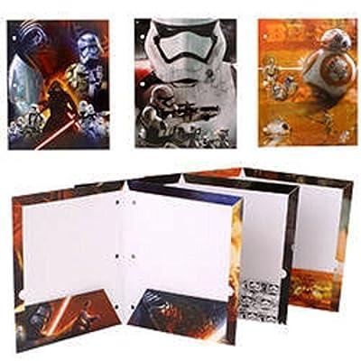 Star Wars 7 Portfolio The Force Awakens - Set of 3 Portfolio 2 Pocket School Folders by Tri-Coastal Design