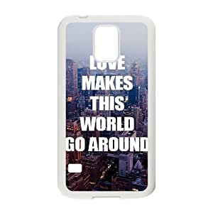 Customized Cover Case with Hard Shell Protection for SamSung Galaxy S5 I9600 case with Love words lxa#870504 by mcsharks