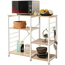 Amazon Com Oak Microwave Carts