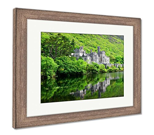 Ashley Framed Prints Kylemore Abbey Castle Galway Ireland, Wall Art Home Decoration, Color, 30x35 (frame size), Rustic Barn Wood Frame, AG33117749 ()