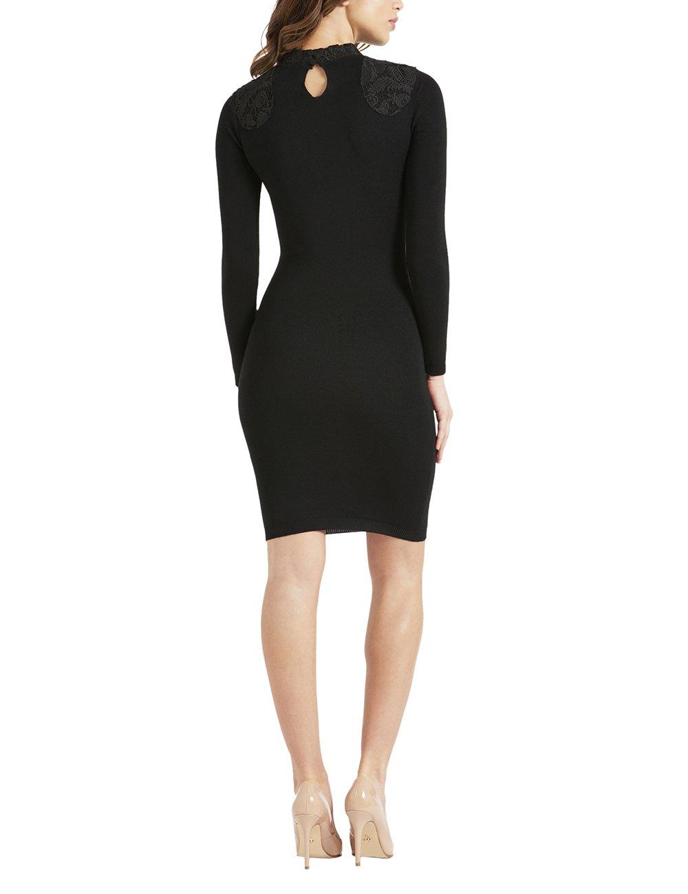 LIPSY Womens Lace Appliquà Dress Black US 10 (UK 14) by LIPSY (Image #5)