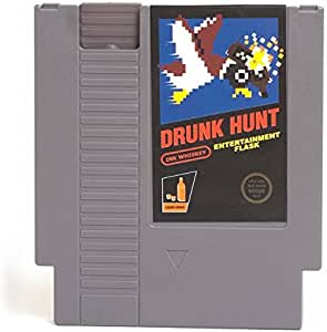 Ink Whiskey Concealable NES Entertainment Flask – Looks Like a Retro Nintendo Video Game Cartridge – buts it's a Flask with a Hilarious Label