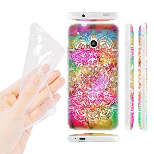 Head Case Designs Watercolour Mandala Doodles Soft Gel Back Case Cover for HTC One mini